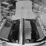 Gemini boilerplate 3A in the production area at the McDonnell plant before being shipped to Weber Aircraft