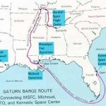 Route of the Barge from Tenn. to Fla.