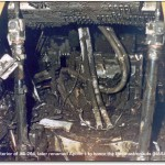 Interior of Apollo 1 Command Module after the fire