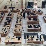 Apollo 1 Command Module parts were studied and catalogued in the Pyrotechnics Installation Building at KSC