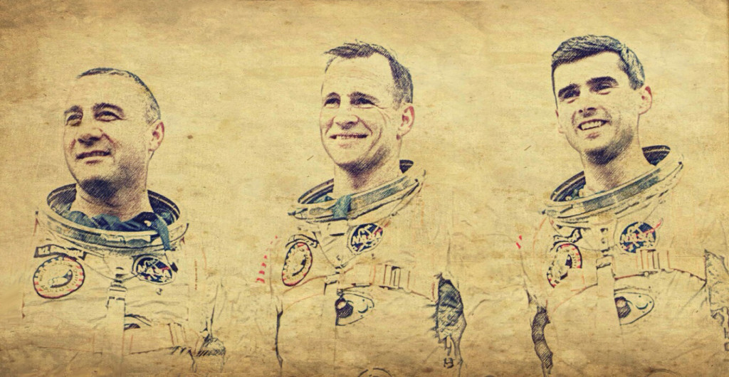 Apollo 1 Crew Sketch By Joe G.