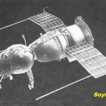 Soyuz 1 shown with both panels extended