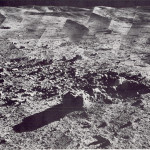 Photomosaic of a panorama taken by Surveyor 7