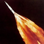 Exhaust plume of Apollo 6