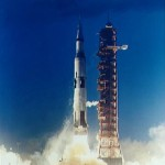 Apollo 4 leaves the launch pad