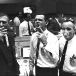 Mission Control celebrates the end of a very successful Apollo 7 mission