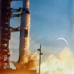 Launch of Apollo 8 with Crescent Moon