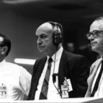 Kraft, Gilruth, and Trimble in Mission Control