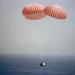 Apollo 9 approaches splashdown